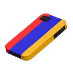 Bandera nacional de Armenia Case-Mate iPhone 4 Funda