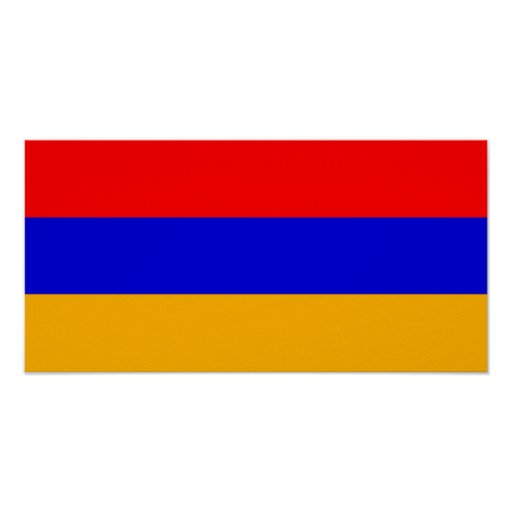 Bandera nacional de Armenia Poster
