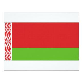 """Bandera nacional de Bielorrusia Invitación 4.25"""" X 5.5"""""""