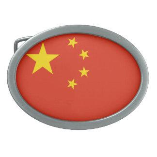 Bandera nacional de China (PRC) Hebilla Cinturón Oval