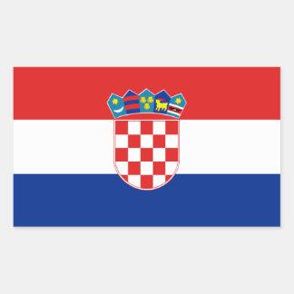 Bandera nacional de CUATRO Croacia Pegatina Rectangular
