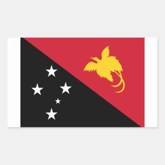 Bandera nacional de CUATRO Papúa Nueva Guinea Pegatina Rectangular