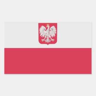 Bandera nacional de CUATRO Polonia Rectangular Altavoz