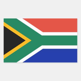 Bandera nacional de CUATRO Suráfrica Pegatina Rectangular