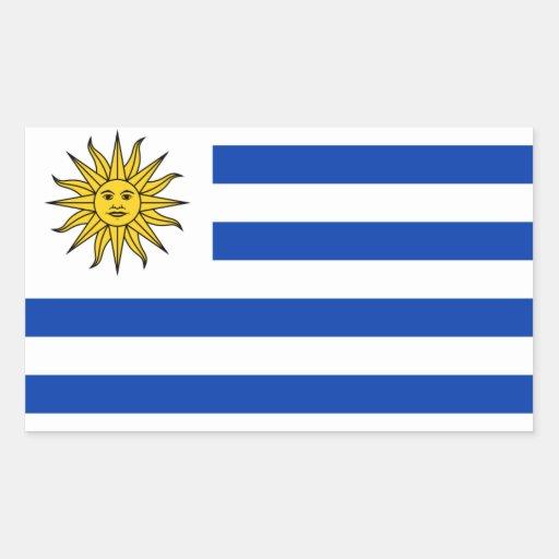 Bandera nacional de CUATRO Uruguay Pegatina