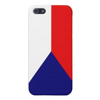 Bandera nacional de Czechia de la República Checa iPhone 5 Fundas