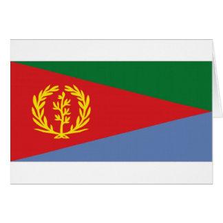 Bandera nacional de Eritrea Tarjeta De Felicitación