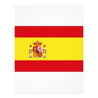 """Bandera nacional de España simplificada Folleto 8.5"""" X 11"""""""