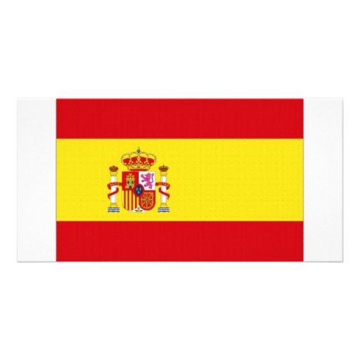 Bandera nacional de España simplificada Tarjetas Fotográficas Personalizadas