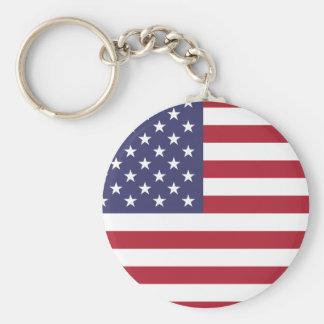 Bandera nacional de Estados Unidos Llavero Personalizado