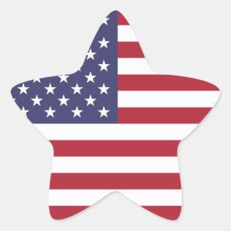 Bandera nacional de Estados Unidos Pegatina En Forma De Estrella