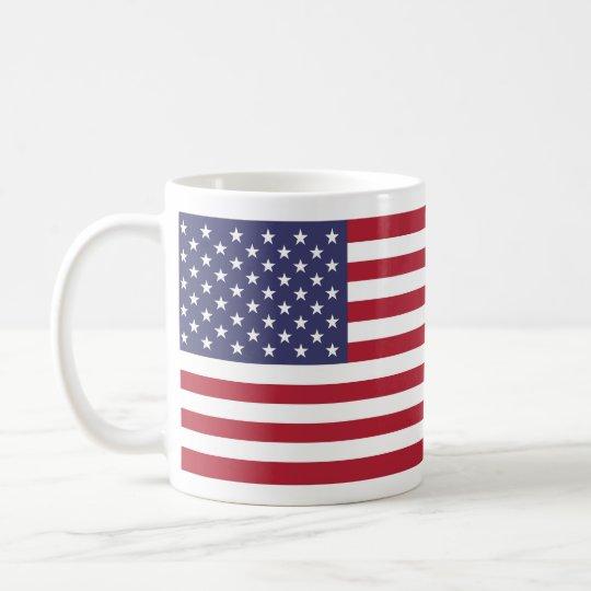 Bandera nacional de Estados Unidos Taza De Café