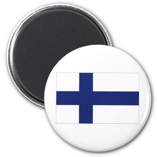 Bandera nacional de Finlandia Imanes De Nevera