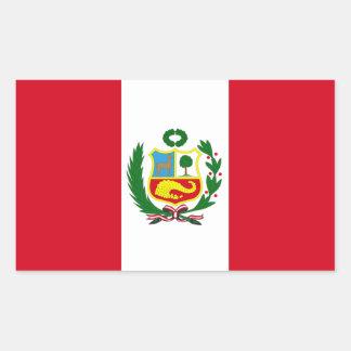Bandera nacional de FPUR Perú Rectangular Pegatina