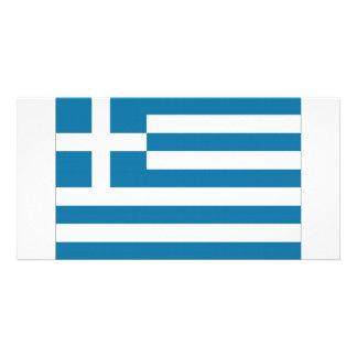Bandera nacional de Grecia Tarjeta Fotografica