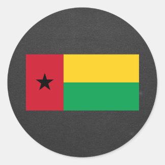 Bandera nacional de Guinea-Bissau Pegatina Redonda