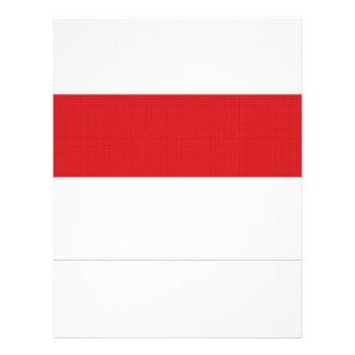 "Bandera nacional de Indonesia Folleto 8.5"" X 11"""