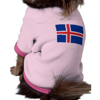 Bandera nacional de Islandia Camiseta Con Mangas Para Perro