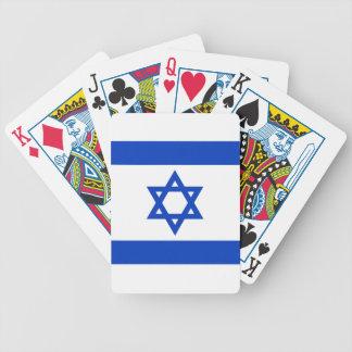 Bandera nacional de Israel - versión auténtica Baraja De Cartas Bicycle