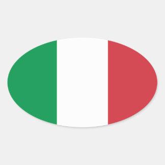 Bandera nacional de Italia Calcomania De Óval