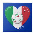 Bandera nacional de ITALIA FÚTBOL del mundo 2014 Tejas Cerámicas