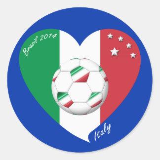 Bandera nacional de ITALIA FÚTBOL del mundo 2014 Etiquetas
