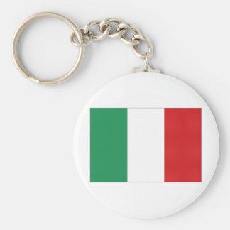 Bandera nacional de Italia Llavero Redondo Tipo Pin