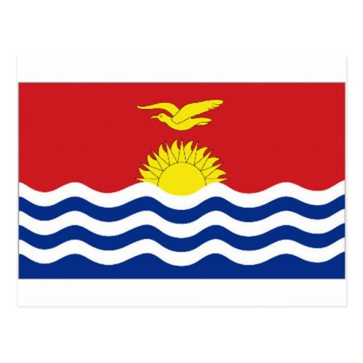 Bandera nacional de Kiribati Tarjeta Postal