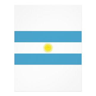 "Bandera nacional de la Argentina Folleto 8.5"" X 11"""