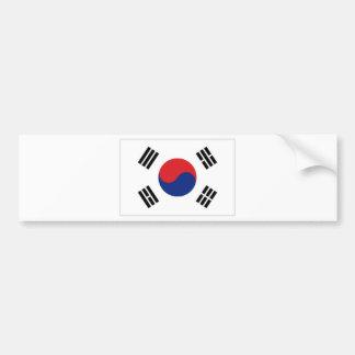 Bandera nacional de la Corea del Sur Pegatina De Parachoque