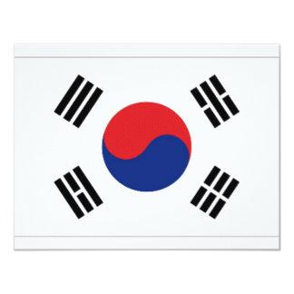 """Bandera nacional de la Corea del Sur Invitación 4.25"""" X 5.5"""""""