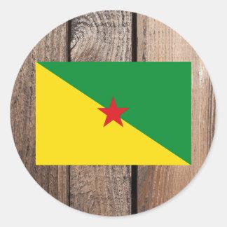 Bandera nacional de la Guayana Francesa Pegatina Redonda