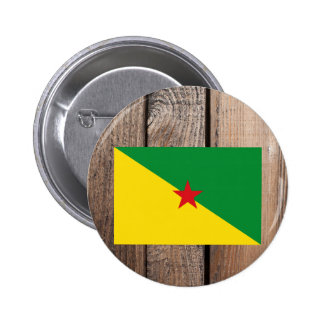Bandera nacional de la Guayana Francesa Pin Redondo 5 Cm