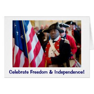 Bandera nacional de la libertad tarjeta de felicitación