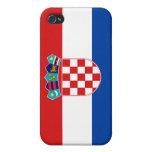 Bandera nacional de la nación de Croacia iPhone 4 Carcasa