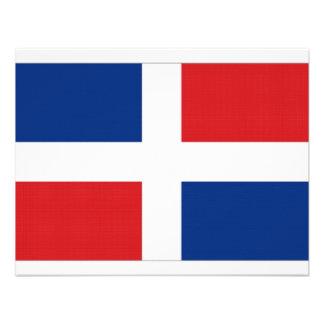 Bandera nacional de la República Dominicana Invitaciones Personalizada