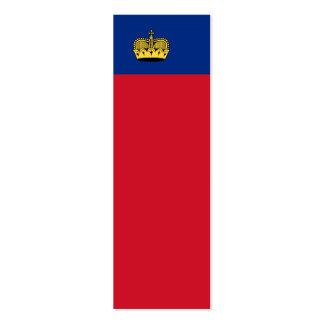 Bandera nacional de Liechtenstein Plantilla De Tarjeta De Visita