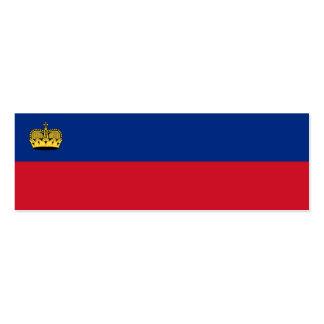 Bandera nacional de Liechtenstein Tarjeta De Negocio