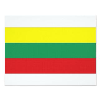 Bandera nacional de Lituania Invitación 10,8 X 13,9 Cm