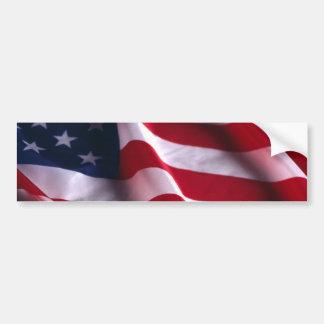 Bandera nacional de los Estados Unidos de América Pegatina De Parachoque