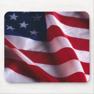 Bandera nacional de los Estados Unidos de América Tapetes De Ratón