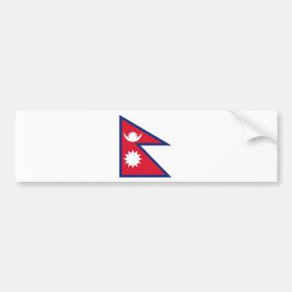 Bandera nacional de Nepal Pegatina De Parachoque