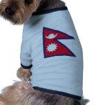 Bandera nacional de Nepal Ropa De Mascota