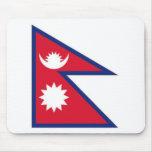 Bandera nacional de Nepal Tapete De Ratón
