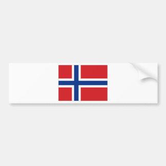 Bandera nacional de Noruega Pegatina De Parachoque