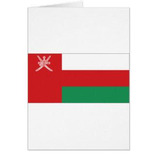 Bandera nacional de Omán Tarjeta De Felicitación