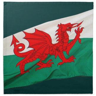 Bandera nacional de País de Gales, el dragón rojo  Servilletas De Papel