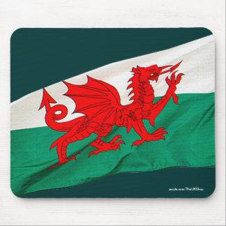 Bandera nacional de País de Gales, el dragón rojo Tapete De Raton