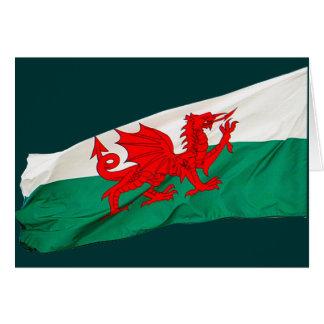 Bandera nacional de País de Gales, el dragón rojo Tarjeta De Felicitación