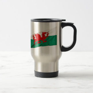 Bandera nacional de País de Gales, el dragón rojo Taza Térmica